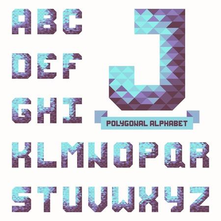 Full polygonal triangular alphabet  Vector