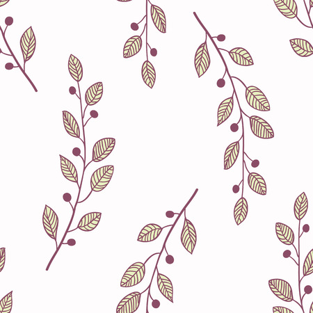 slhouette: Simple seamless pattern background with branch. Doodle fabric design (vector illustartion) Illustration