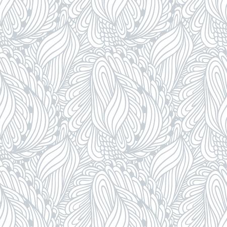 Hand gezeichnete Umriss Textil nahtlose Muster. Doodle Druck. Ink-Stil Vektor-Illustration. Hintergrund kann für Tuch, Stoff, Packpapier oder einem anderen Design verwendet werden Illustration