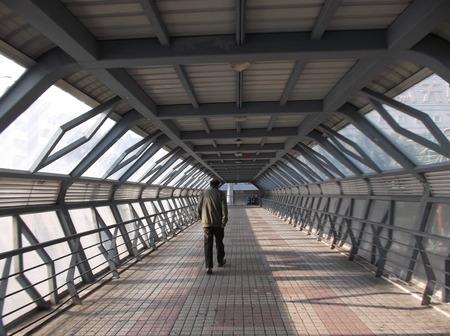 Pedestrian bridge in Shenzhen, China Stok Fotoğraf