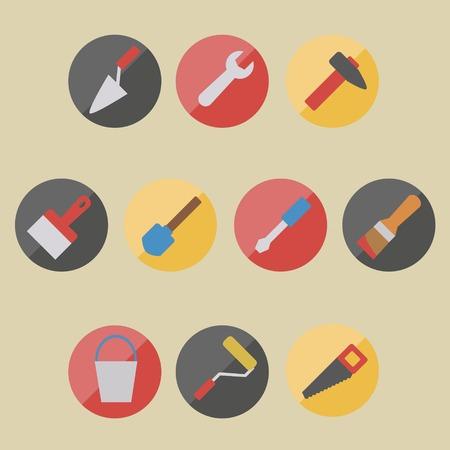 darby: flat icons repair tools