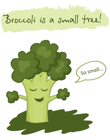 hes: Fun vegetable that thinks hes a tree Illustration