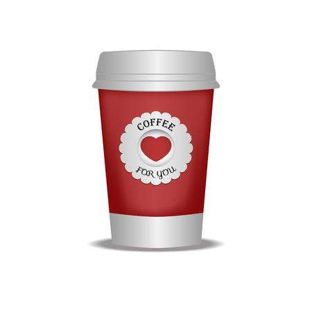 Cup of coffee to go Vector