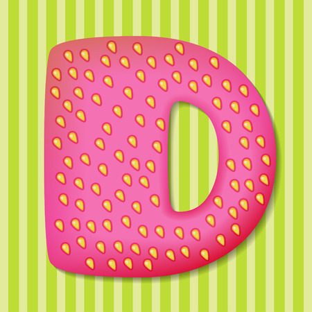 tasty: Bright tasty letter D Illustration