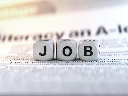 Neues Jobkonzept, konzeptionelles Bild.