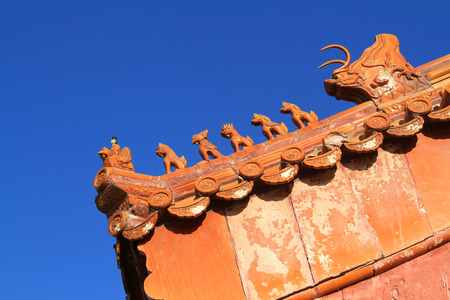 auspiciousness: The roof of ancient Chinese architecture, a symbol of auspiciousness