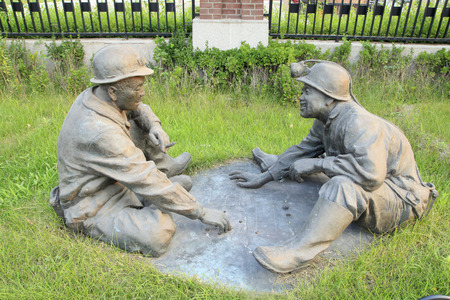 miners: In the park, the miners  life sculpture