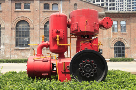 industrial park: Industrial Park, Old apparecchiature di produzione di cemento, alla luce