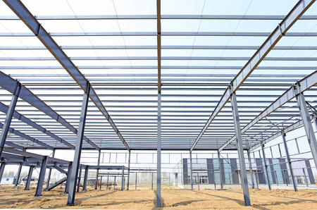 steel: The steel structure, is under construction