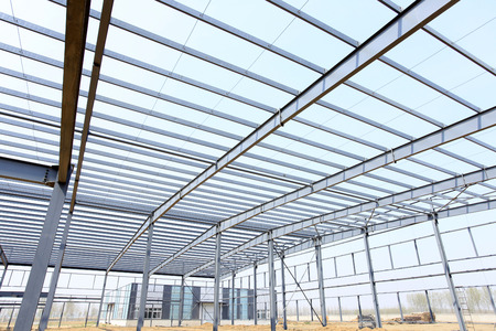 steelwork: The steel structure, is under construction