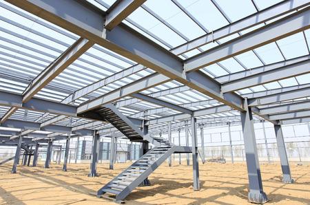 estructura: La estructura de acero, se encuentra en construcción