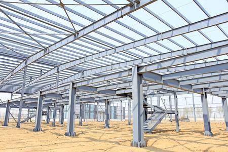 structure?: La estructura de acero, est� en construcci�n Foto de archivo