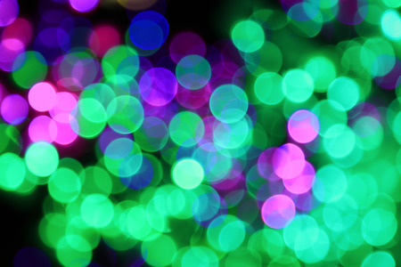 Night of the city, there are a lot of light, beautiful bokeh photo
