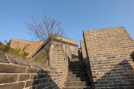 the great wall and the fall: The Great Wall of China, it is very magnificent