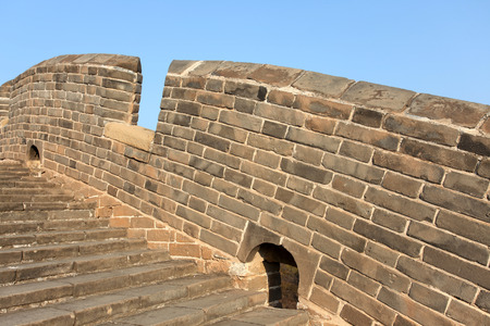 the great wall and the fall: The Great Wall of China Stock Photo