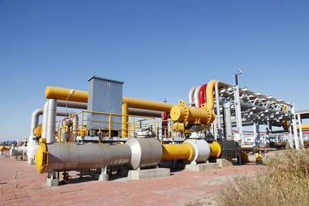 Pipeline system, used to transport oil and oil products pipeline system Stock Photo