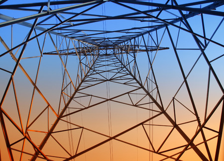 The evening of the pylon outline, is very beautiful Standard-Bild
