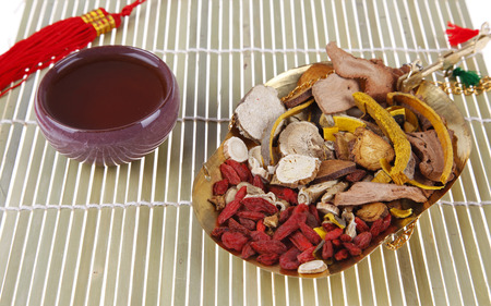 very good: Traditional Chinese medicine, the curative effect is very good, close-up Stock Photo
