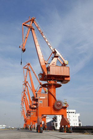 gantry: Port gantry crane, used for loading and unloading of goods