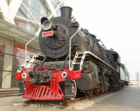 industrial park: Industrial park, exhibition of the train Editorial