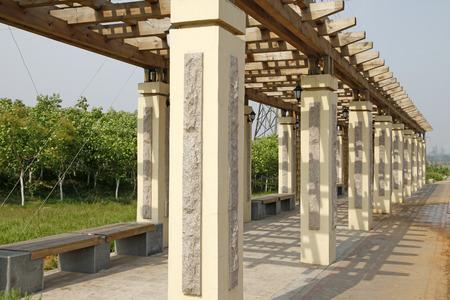 colonnade: Park Colonnade, tourists rest place