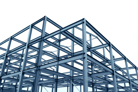 The steel structure Stockfoto