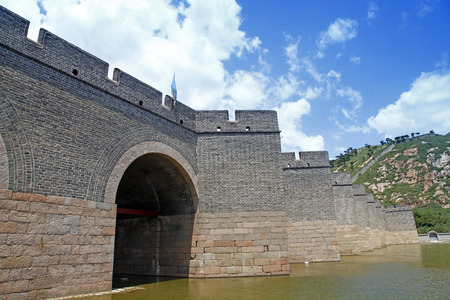 greatwall: The Great Wall of China, under the blue sky white clouds, very beautiful