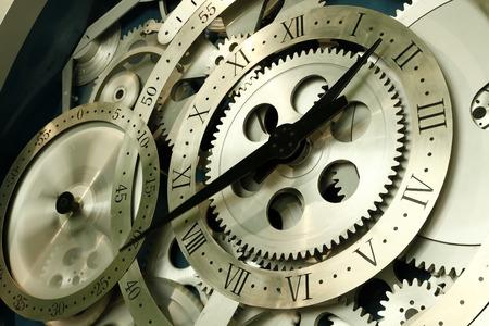 Close up of a rotating clock