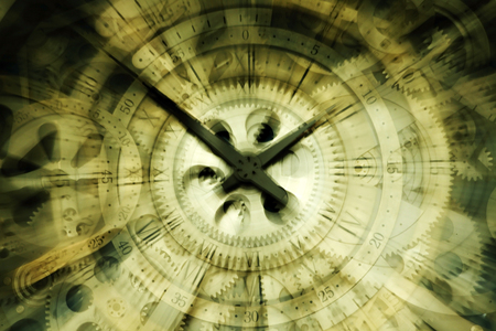 Rotating clock, close-up Stok Fotoğraf