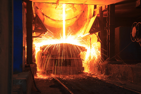 Steelmaking Workshop Standard-Bild - 44725085