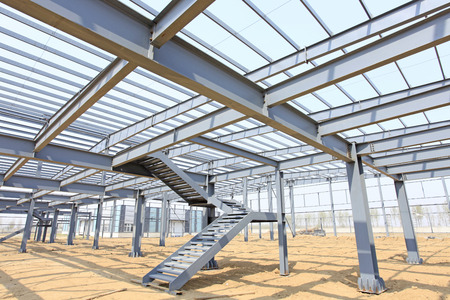 steel construction: The steel structure Stock Photo