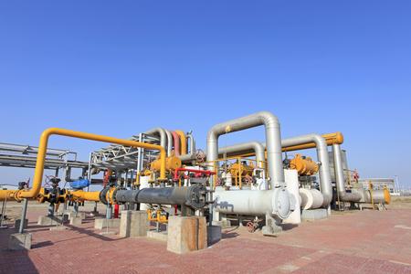ingenieria industrial: oleoductos e instalaciones petroleras Foto de archivo