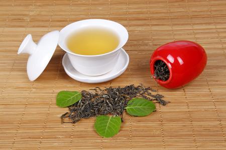 chinese herbs: Tea, close-up Stock Photo