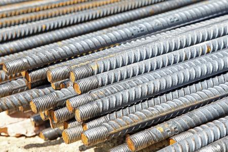 metal base: Rebar, close-up
