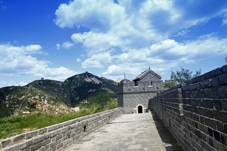 greatwall: The Great Wall of China, under the blue sky white clouds