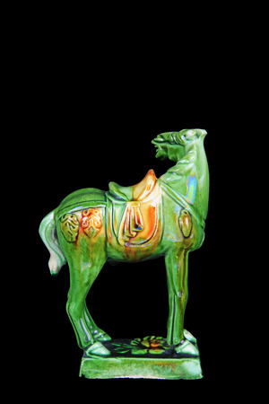 tricoloured: tri-coloured glazed pottery horse of the Tang Dynasty Editorial