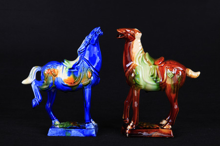 dynasty: tri-coloured glazed pottery horses of the Tang Dynasty