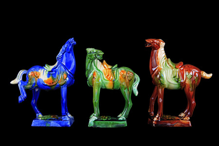 tricoloured: tri-coloured glazed pottery horses of the Tang Dynasty