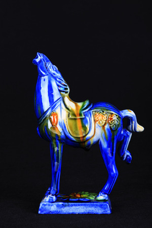 tri-coloured glazed pottery of the Tang Dynasty, Tang sancai glaze horses 新聞圖片