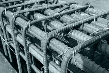 materiales de construccion: Red de acero en la obra