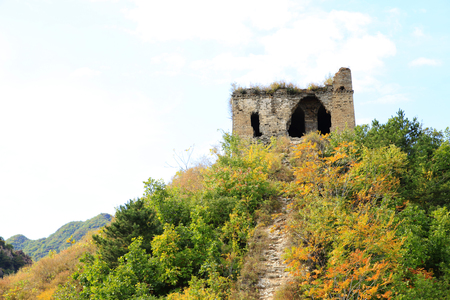 greatwall: In autumn, the Great Wall of China Stock Photo