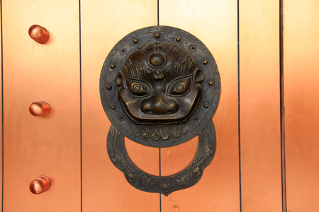 majesty: Ancient Chinese architecture copper door knocker,Symbol propitious and majesty