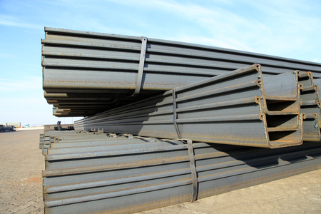 iron bars: Channel steel Stock Photo