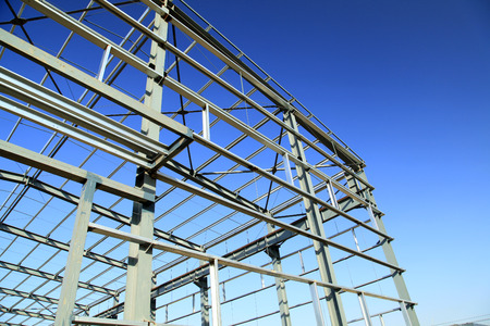 steel structure: The steel structure Stock Photo