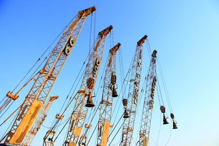 crawler: Crawler crane in the construction site