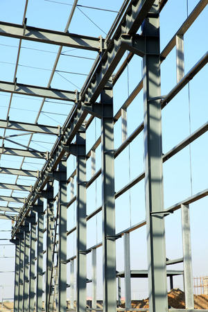 steelwork: The steel structure Stock Photo