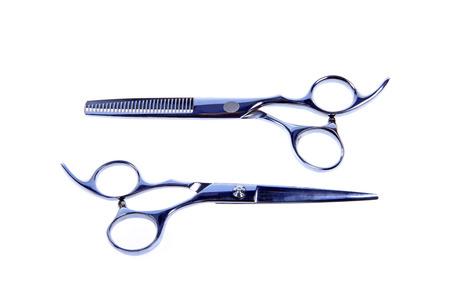 haircutting: hair scissors