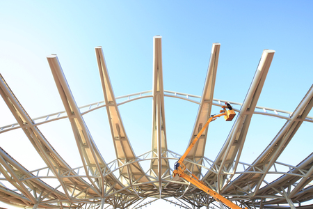 steelwork: the steel structure