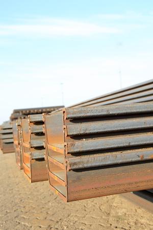 heavy joist: Channel steel Stock Photo