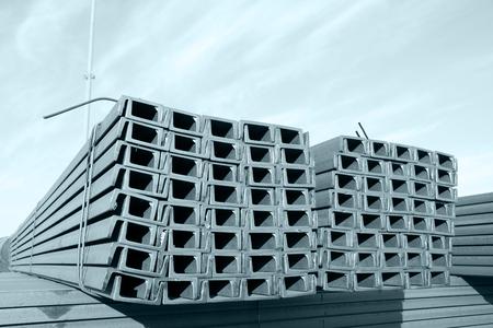 channel: Channel steel Stock Photo